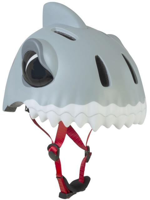 Crazy Safety Shark - Casco de bicicleta Niños - gris/blanco